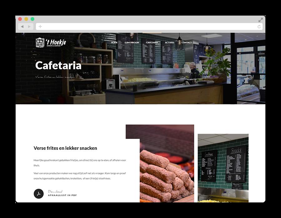 Corona oplossing: Afhaallijst downloaden als PDF op de website.